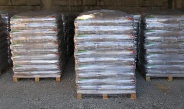 Granulés de bois en sac