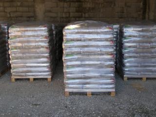 Palettes de granulés de bois en sacs en vente